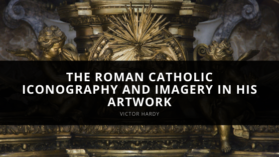 Victor Hardy explains the Roman Catholic iconography and imagery in his artwork